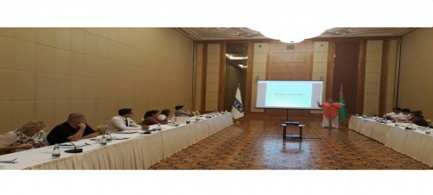 EDUCATIONAL COURSE ON THE DEVELOPMENT OF WORK WITH ONLINE MASS MEDIA IS BEING HELD IN ASHGABAT
