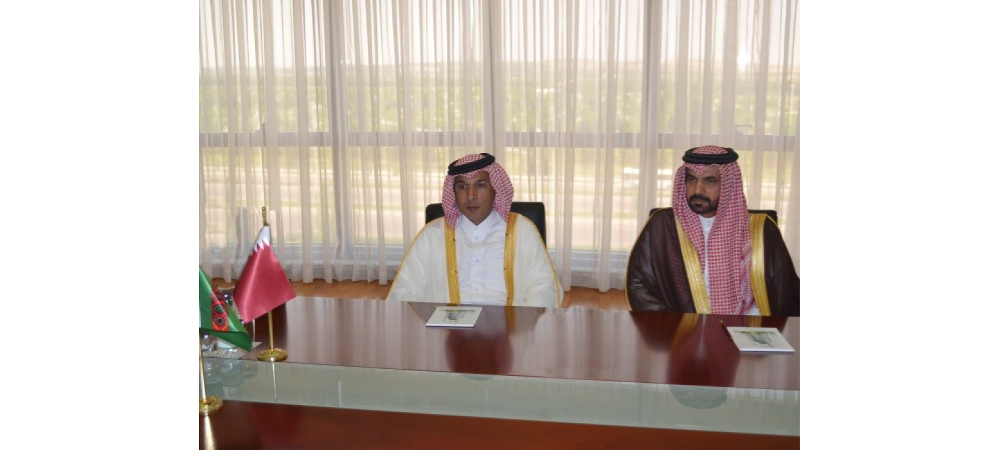 MEETING WITH THE DELEGATION OF THE STATE OF QATAR IN THE MFA OF TURKMENISTAN